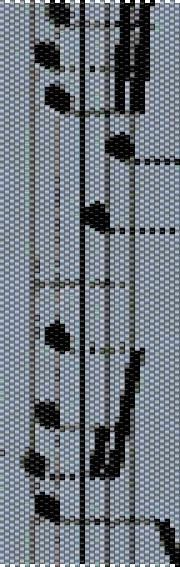 BPMU0002 Music 2 Even Count Single Drop Peyote Cuff/Bracelet Pattern