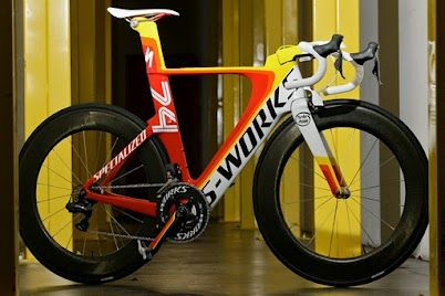 Robert Egger's Lunch Ride Bike - Shiv prototype that became the Venge