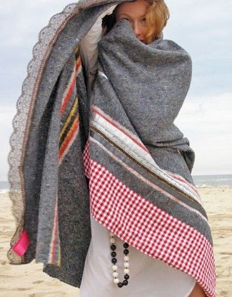 Blanket made from old clothes. #recycle, #reuse, #charitable