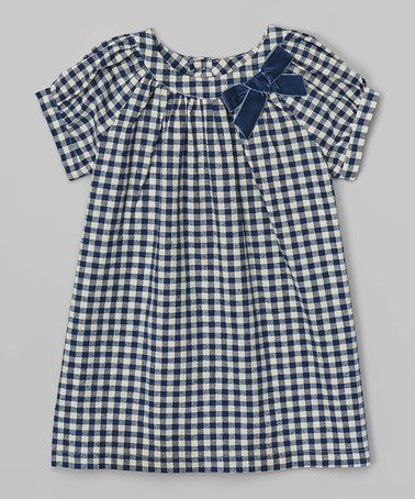 Loving this Navy Gingham Bow Dress - Infant & Toddler on #zulily! #zulilyfinds