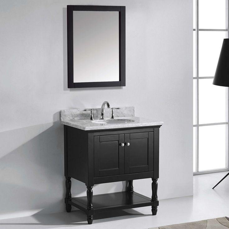 Virtu Julianna MS-3132-WM 32 in. Single Bathroom Vanity with Round Sink - MS-3132-WMRO-ES-001