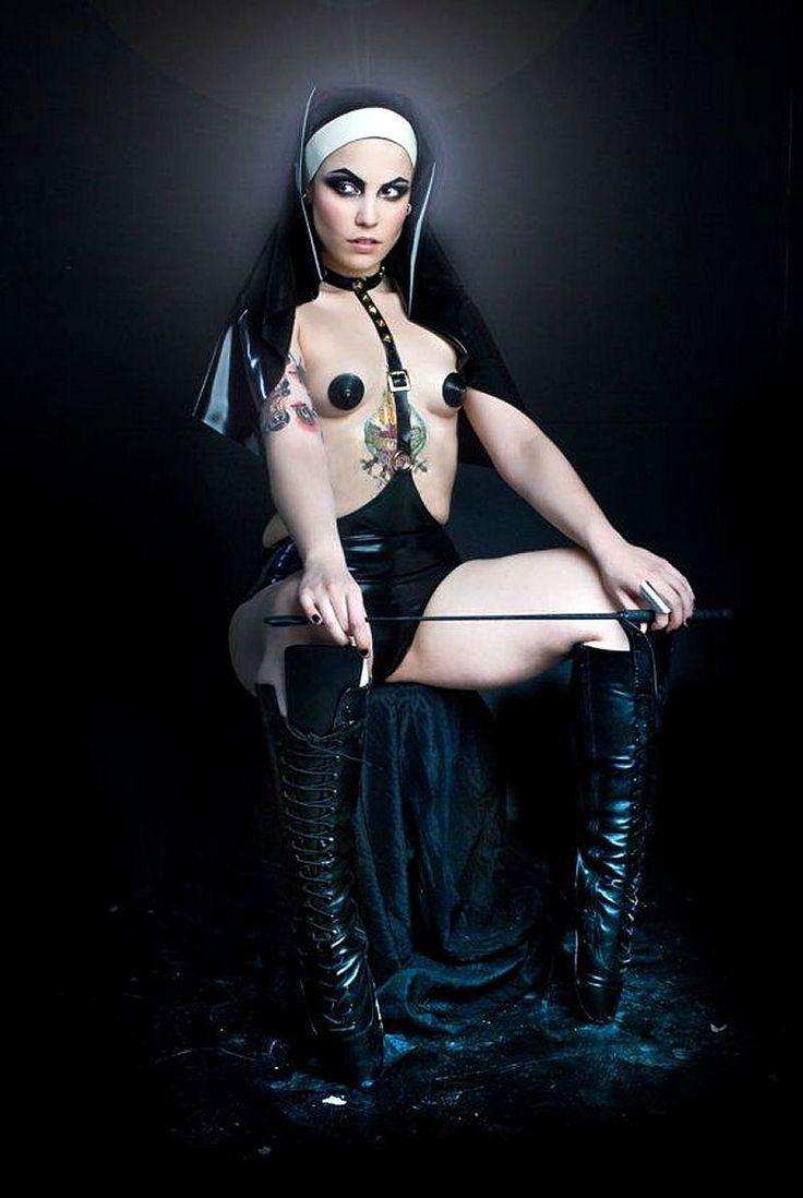 Leather bondage girl