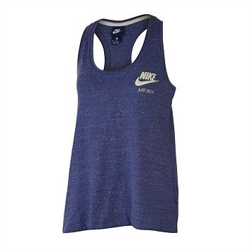 Quality women's sport singlets & tanks at great prices. Select from a range of sizes, colours & styles. Shop online at Rebel Sport & we'll deliver right to your door., Nike Womens Gym Vintage Tank