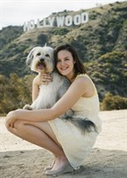 Ashleigh and Pudsey in Hollywood