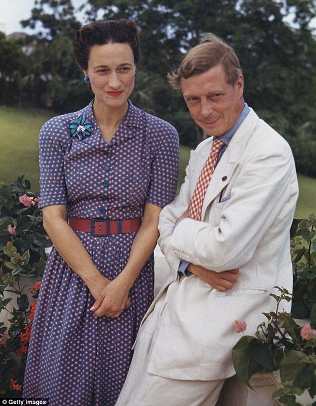 Mrs Simpson threw the monarchy into crisis when it was announced that King Edward intended to marry her in 1936 (pictured together in about 1942)