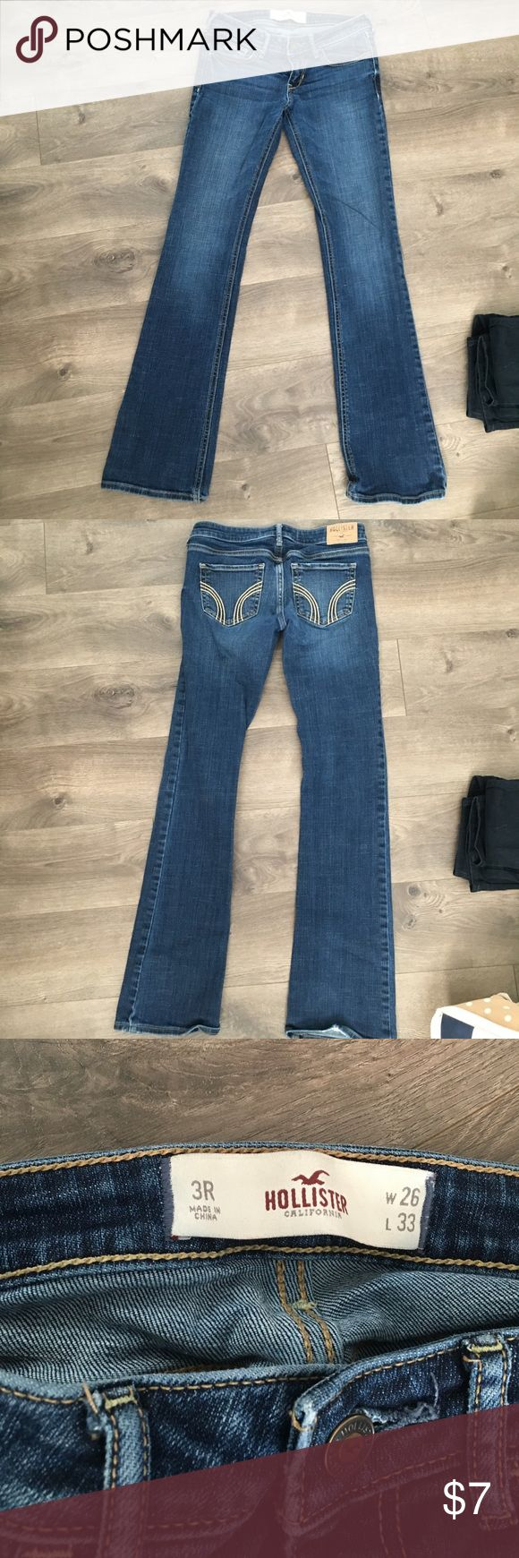 Hollister Boot cut jeans 3R Hollister Boot cut jeans - 3R -excellent condition, no damage, smoke free home Hollister Jeans Boot Cut