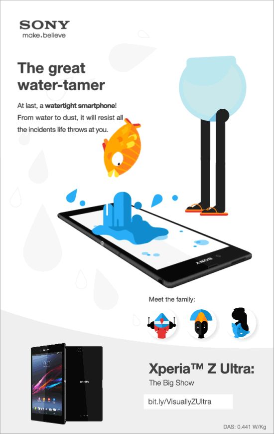 At last, a watertight smartphone ! From water to dust, the Xperia™ Z Ultra will resist all the incidents life throws at you