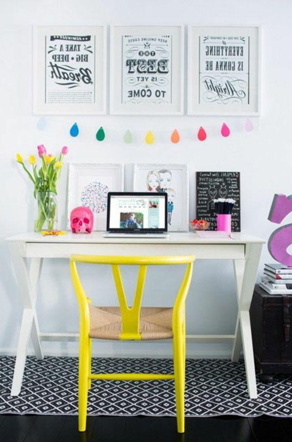 bureau dco chambre ado fille color - Deco Pour Chambre Ado Fille A Faire Soi Meme