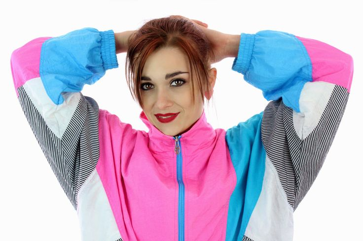 90s Windbreaker Jacket 80s Vintage Colorblock Lavon Athletic Running Coat Tennis 1980s 1990s Pink Blue Womens Size M by neonthreadsdesigns on Etsy