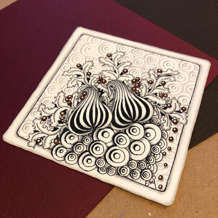 #zentangle #zenart #tangle #pattern #patternart #autumn #penart #mindfulness #ゼンタングル #ゼンタングルアート #パターンアート #ペン画 #マインドフルネス