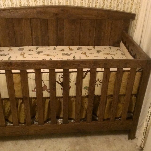 Custom Made Solid Oak Farm Style Crib by Scott Design | CustomMade.com