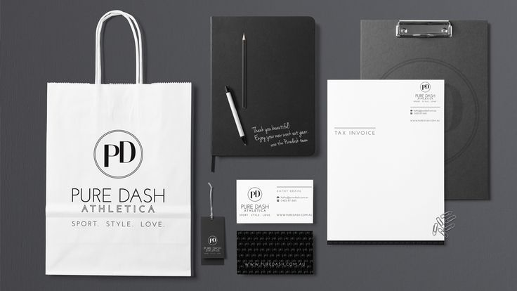 Push Dash Athletica Stationery Design Sunshine Coast