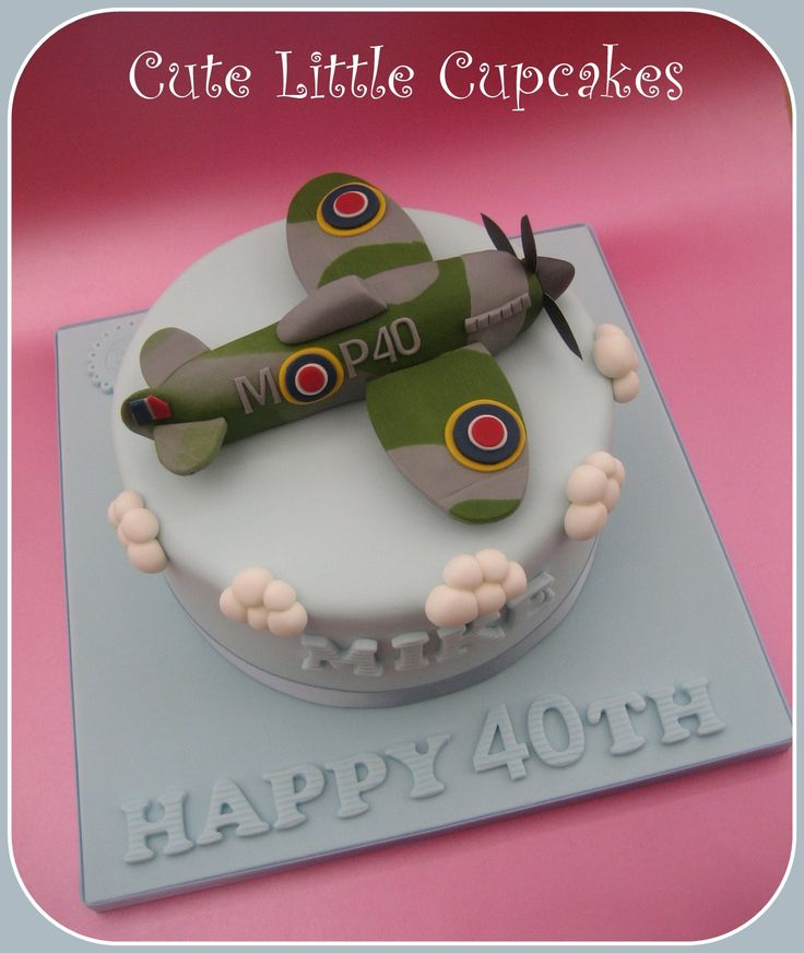 Spitfire plane 40th birthday cake