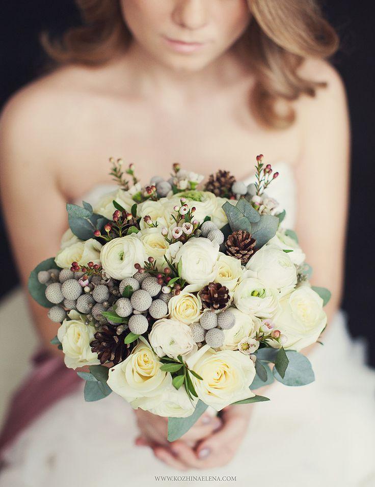 Winter wedding bouquet for ivory dress...beautiful!