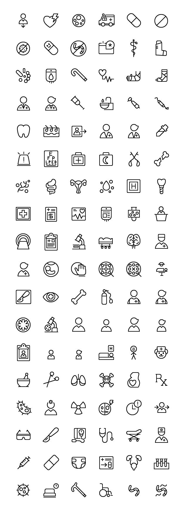 This set include icons which allude to medical components corresponding to medical instruments, l… a92863d088ea5da3f1d807efccc3dd10  medical icon line icon