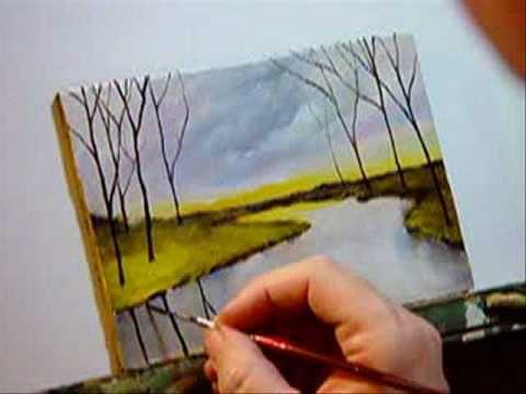 """Landscape Painting - """"A Calm River"""""""