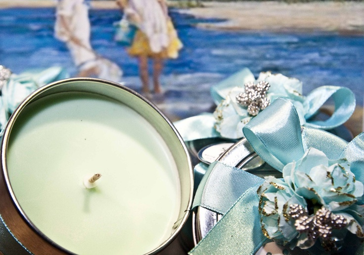 Candle Gift Tin - Yellow, $10.00