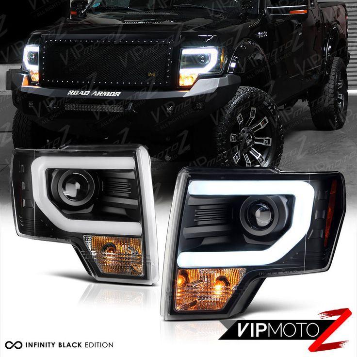 "2009-2014 Ford F150 ""CYCLOP OPTIC"" LED Tube Matte Black Headlights <Raptor SVT> | eBay Motors, Parts & Accessories, Car & Truck Parts | eBay!"