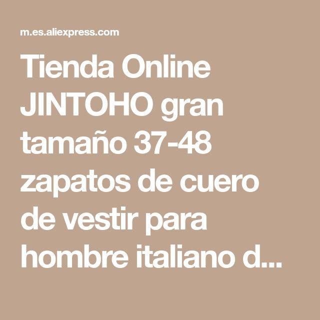 Tienda Online JINTOHO gran tamaño 37-48 zapatos de cuero de vestir para hombre italiano de cuero genuino resbalón en holgazanes mocassines marca planos de los hombres zapatos | Aliexpress móvil