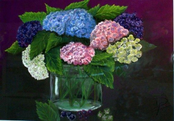 tableau peinture hortensia (5)