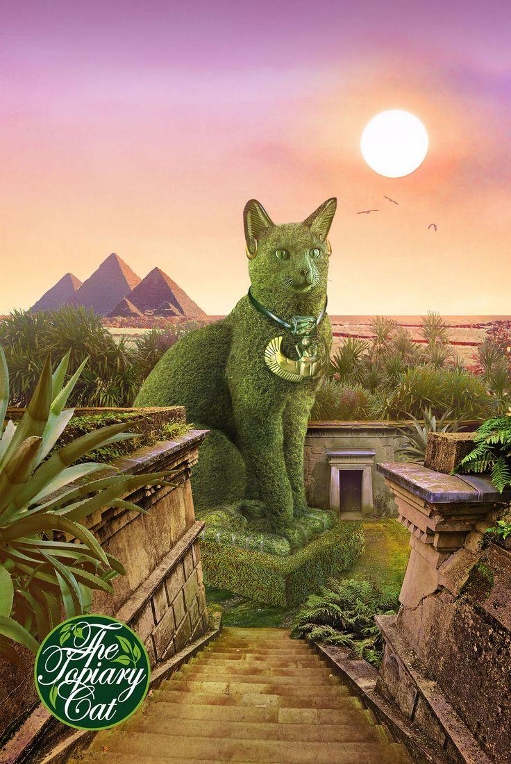 The Topiary Cat In Egypt Topiary Cat Garden Topiary Garden