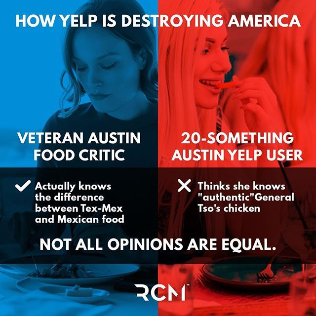Power to the people is a good motto, as long as it's to the people who know what they're doing. Trust experts, not @Yelp. #smallbiz #business #yelp #entrepreneurship #businessowners  #atxlife #atx - #adagency #advertisingagency #printdesign #printads #contentmarketing #messaging #marketingcampaign #marketing #creative #illustration #iconography by #rockcandymedia #theantitemplate