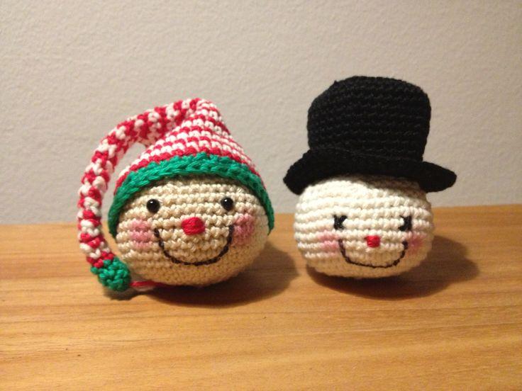 Christmas ornaments crochet | haken kerst   Patern: http://amigurumibb.wordpress.com/2013/10/18/ready-for-christmas-fever/