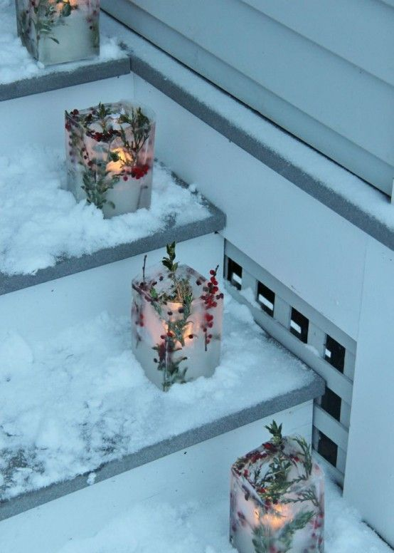 24 Creative Ice Christmas Decorations For Outdoors