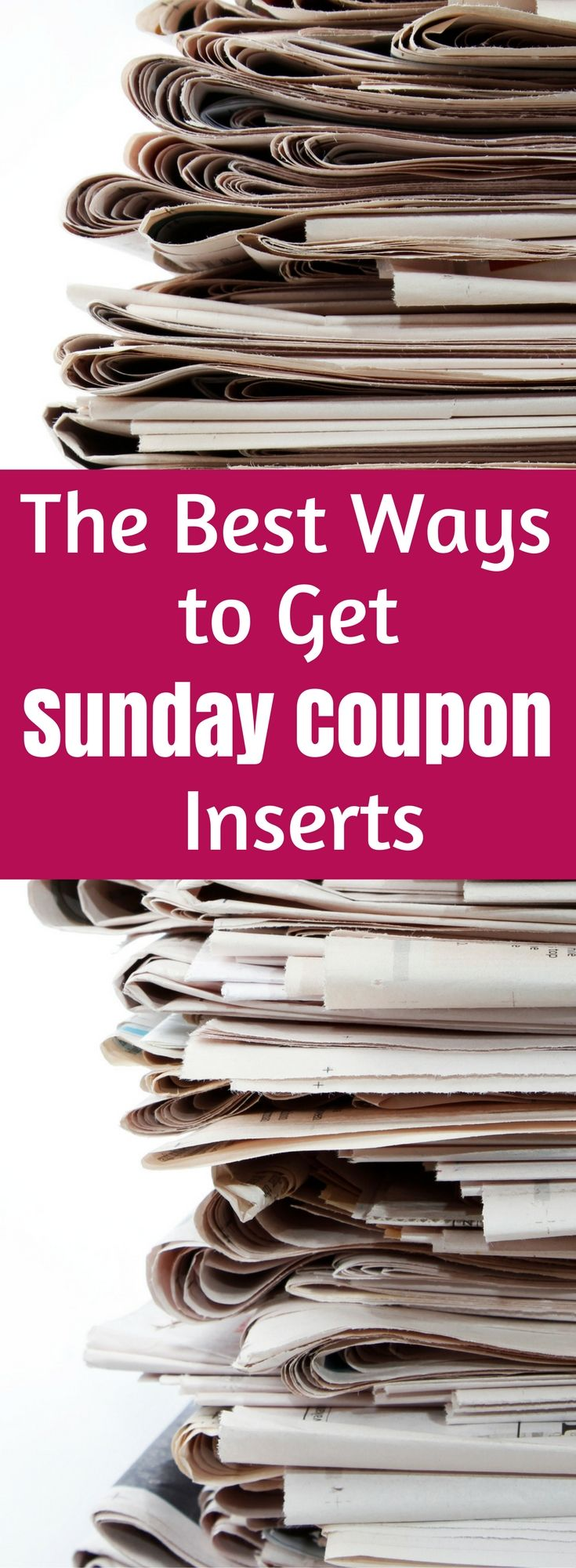 Get Sunday Coupon Inserts