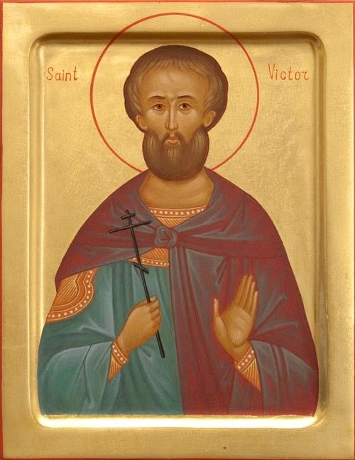 Icon of St Victor - Hand-Painted Icon from the Workshop of St. Elisabeth Convent - To learn more about our Icon Painting Studio: http://catalog.obitel-minsk.com/icon-painting - Worldwide Delivery - #CatalogOfGoodDeeds #Orthodox #Icons  #OrthodoxIcons #Orthodoxy  #Miracle #Blessed #Faith #Handpainted #Saint #Victor