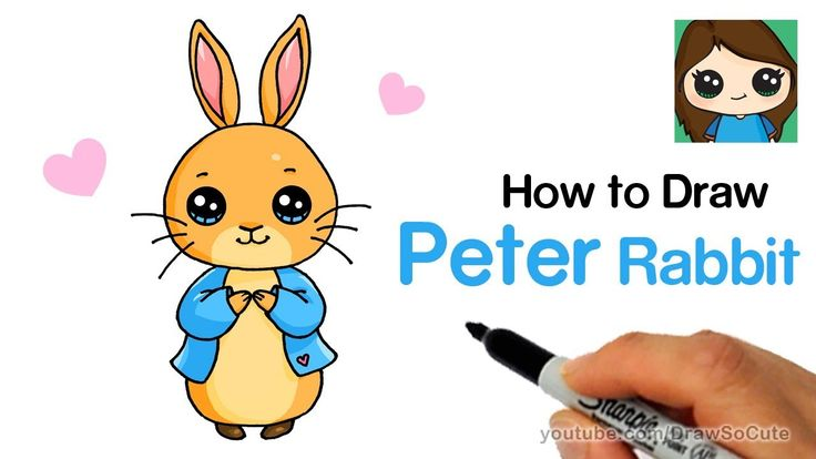 How To Draw Peter Rabbit Easy Drawings In 2019 Rabbit
