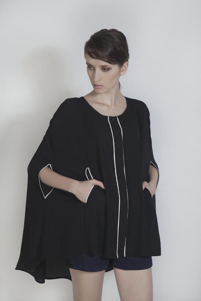 Womenswear. Bi-Color Cape Cardigan