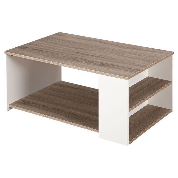Urban Coffee Table - White/Sonoma Oak $106.24