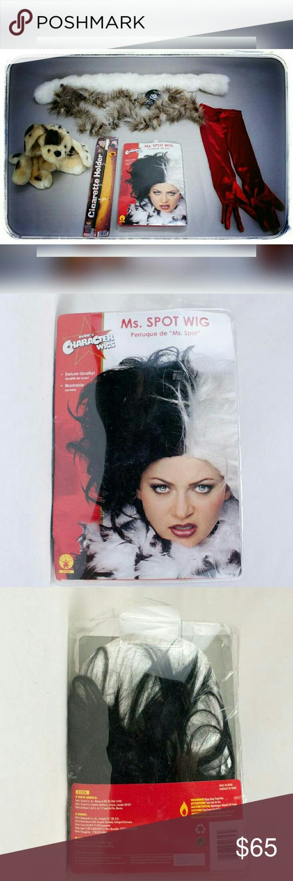 Cruella DeVille Halloween Costume No Dress or Shoe Cruella de Vil Costume No Dress or Shoes, worn once. Find a cute black dress and red shoes! Accessories Hair Accessories