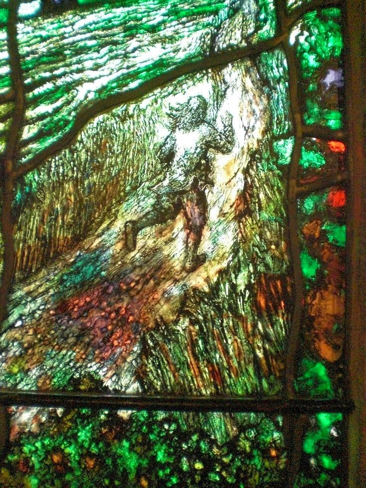 A detail of modern stained glass by Tom Denny in Hereford Cathedral. It commemorates the 17th century Herefordshire Mystic and poet Thomas Traherne.  'how like an angel came I down.. '
