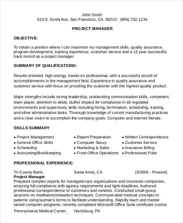 Resume Examples For Business Management: 17 Best Ideas About Business Resume On Pinterest