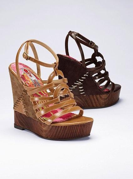 Wood Bottom Wedge Sandal - Two Lips® - Victoria's Secret, on sale $59.99