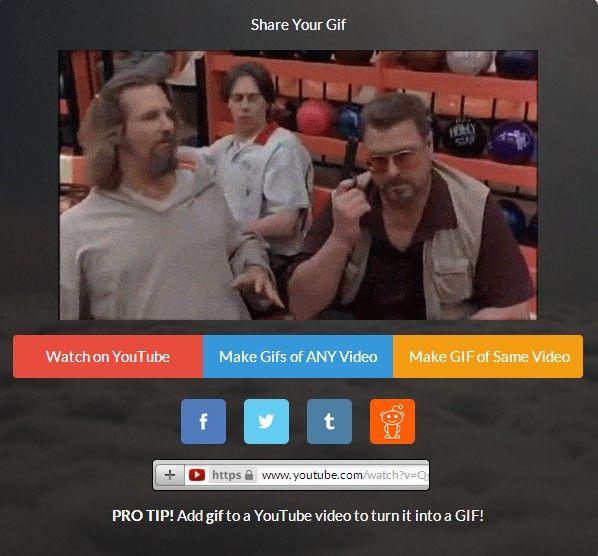 Dank der neuen Web-App GIF YouTube kann sich nun jeder kinderleicht und superschnell aus jedem YouTube-Video seine eigenen GIFS erstellen.