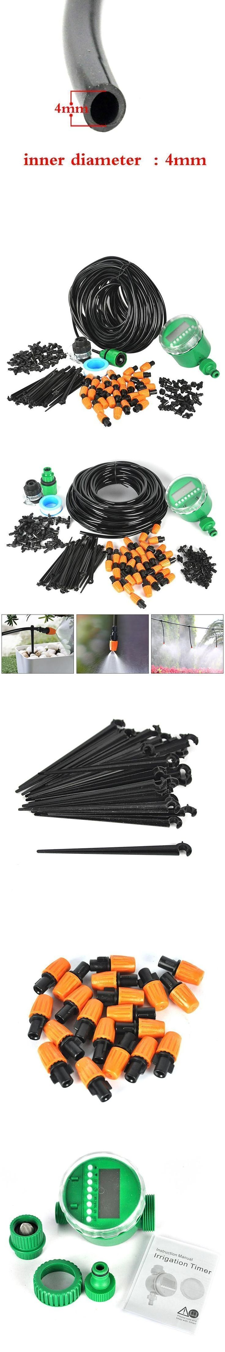25M Automatic Micro Drip Irrigation System With Water Timer Plant Watering Garden Hose Kits Adjustable Dripper Controller Suits #WateringTimers #watergarden