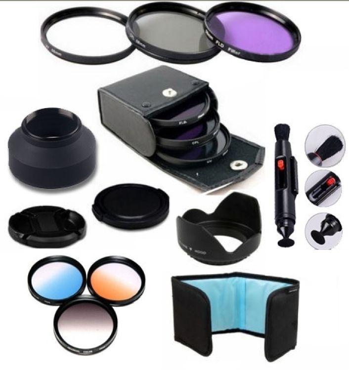 58MM Lens Filter Kit & Accessory for Camera CANON EOS Rebel T5i T4i T3i T3
