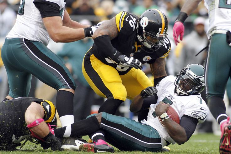 Ziggy Hood sacks Michael Vick  2012
