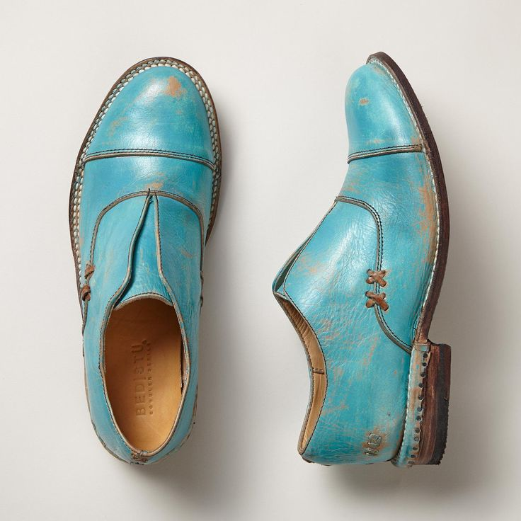 AMELIA SHOES -- A shoe worthy of complete adoration. Oxford-inspired with hand finishing, perfect year 'round. Each pair is unique. Leather. Imported. Exclusive. Whole and half sizes 6 to 10, 11. These are running 1/2 size smaller.