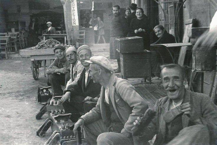GOLDNER.Κρήτη, Ηράκλειο, λούστροι, περίπου 1935,