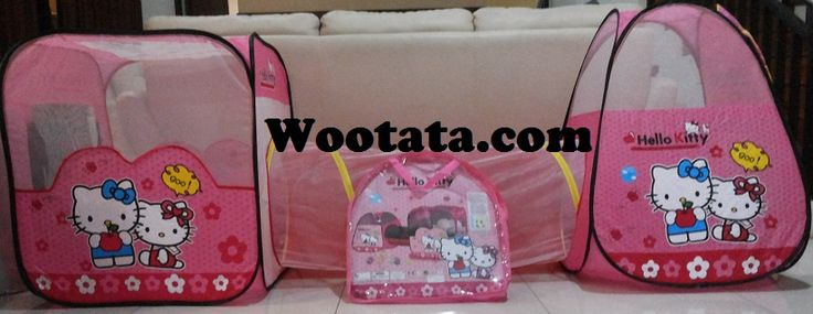 Tenda Terowongan Hello Kitty Warna Pink