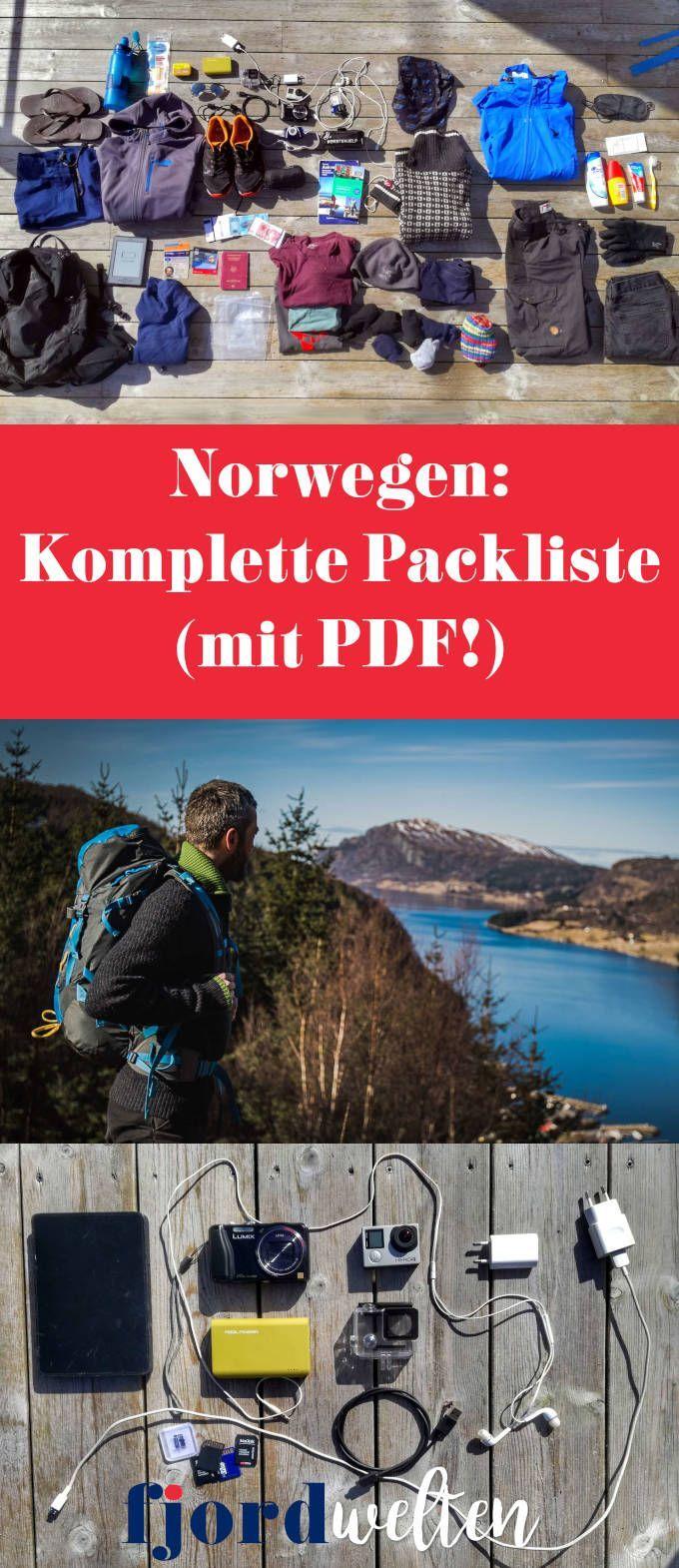 Alles dabei: Die komplette Norwegen Packliste! (+ PDF!)