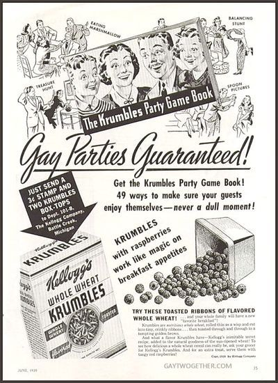 Vintage Gay Impressions - Advertisement - Circa 1939 GAYTWOGETHER.COM