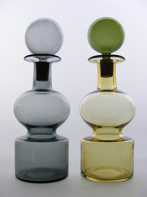 Nuutajarvi 'Kremlin Bells' glass decanters by art-of-glass, via Flickr