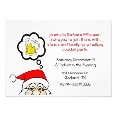 Cocktail Party - Funny  whimsical holiday cocktail party invitation    Funny Cocktail Party Invitations