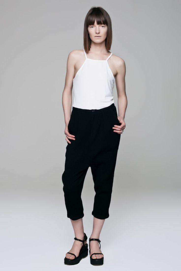 Cotton Wrinkless Pants BLACKBLESSED  @Black Blessed #black #white #fashion #minimal #basic #elegant #designer #urban #urbanchic #dresses #pants #tshirt #top #leggings #white #simple #simplicity