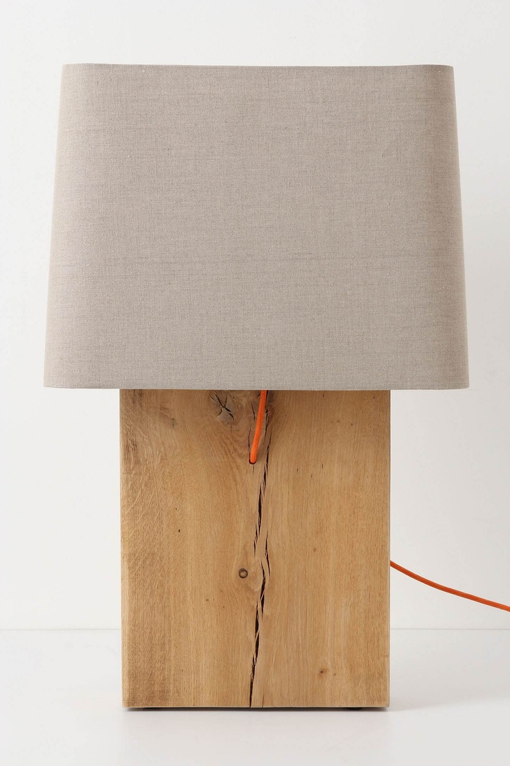 Quercus Slab Lamp Ensemble Brown From Anthropologie